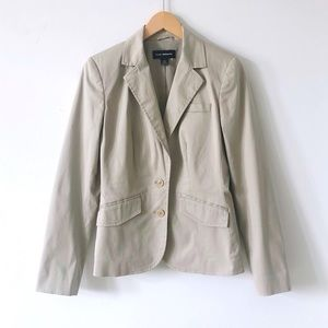 Club Monaco Beige Tailored Fit Cotton Blazer Sz2